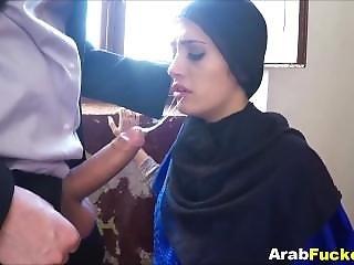Broke Arab Girl Fucks Big Western Cock