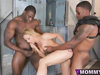 Horniest Hot Bombshell Exposing Blonde Pussy With Bbc Threesome