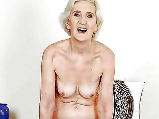 Lovely Granny Shows Tits And Pussy