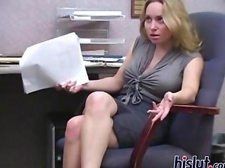 Busty Blonde Secretary Dominates Her Pushy Boss