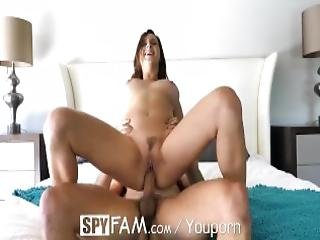 Spyfam Step Brother Spies On Big Tit Step Sister Ashley Adams Showering