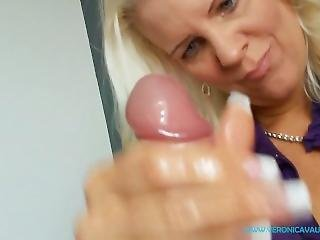 Taboo Pov - Blonde Step-mom Veronica Oils And Massages Your Throbbing Cock