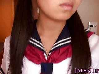 Asian, Blowjob, Closeup, Dick, Fucking, Innocent, Japanese, Petite, Pigtail, Pornstar, School, Sucking, Teen, Tiny, Uniform, Young