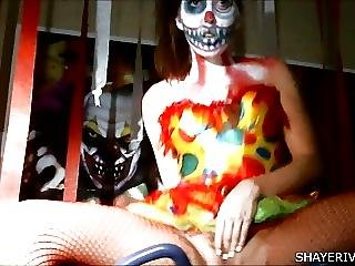 Babe, Clown, Masturbation, Sex, Small Tits, Toys, Webcam