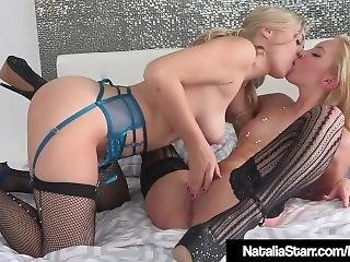 Blonde Natalia Starr Scissor Fucks Aaliyah Love In Heels!