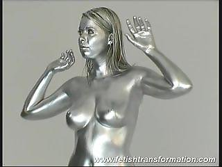 busty silver babe
