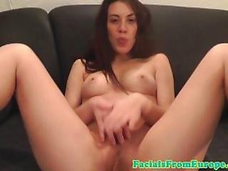 Facialized French Amateur Giving Sloppy Head