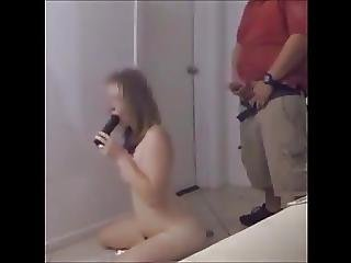Naked Girl - Delivery Pizza And Cum