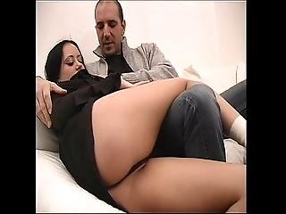 Pretty Young Brunette Has Sex With Older Man