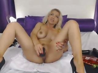 Hot Blonde Milf Solo Play - Add Her Snapchat Rubysuce
