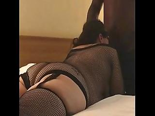 Sexy Bbw In Black Fishnets Fucks Bbc