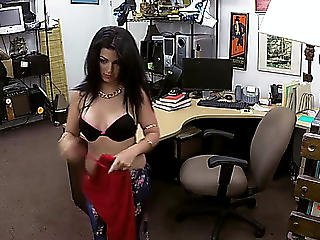 Busty Cuban Bitch Gets Pawned Hardcore Style