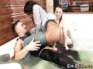 Drenched Babe Jizzed Over