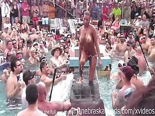 Dantes Pool Wet Tshirt Pole Contest During Fantasy Fest 2013