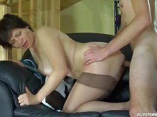 Guy Fuck Russian Mature Maid In Stockings 2
