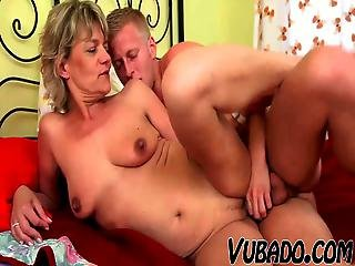 Young Boy Fucks Mature Lady In Bedroom