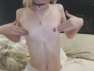 amatorski, masturbacja, napompowani, małe cycki, drażnienie, Nastolatki