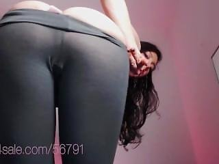 Enocuragement For Weak Wankers. Great Ass No Panties In Light Yoga Pants