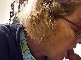 58yr Granny Is Back Sucking Some Young Cock