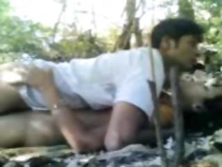 amatoriale, coppia, indiana, naturale, tette vere, all'aperto, sesso, Adolescente, vaginale
