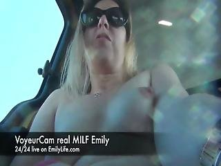 Emily Livecam Exhibition In The Car