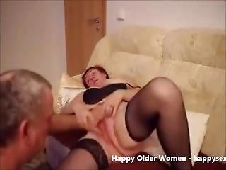 Old Bitch Having Fun. Amateur Older