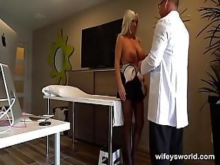 Wifey Swallows Her Doctor S Cum