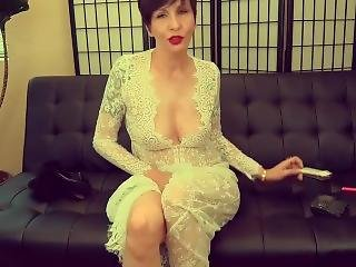 Smoking Fetish - Naughty Aunt Smoking Heavy And Footplay