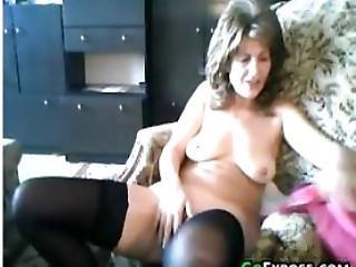 Granny Gets Naked And Masturbates