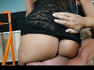 Ass, Ass Lick, Brunette, Facesitting, Gym, Lick