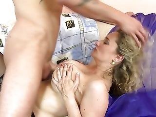 Mature Sexbomb Mother Takes Young Big Dick
