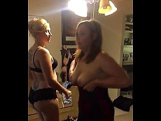 Wife And Pizza Delivery Girl Get Naughty.