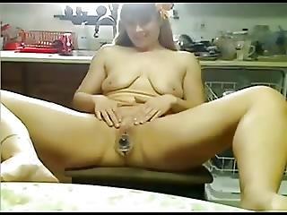 Hormonal Chubby Farm Girl Is Addicted To Masturbation