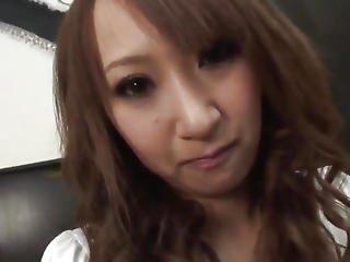 Anna Mizukawa Takes Over Sized Rod Down Her Furry Fur Pie