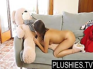 Petite Jenny Ferri Just Turned 18yo And Fucking With Teddy Bear Carlos