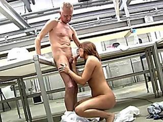 Horny Grandpa Gets Pleased By Teen