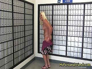 Ms Paris Is A True Exhibitionist This Is A Collection Of Her Most Risky Moments Of Stripping Down To Full Nude And Parading Around From The Post Office To An Office Building She Has No Fear!