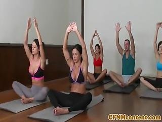 Yoga Turned Into A Fucking Session