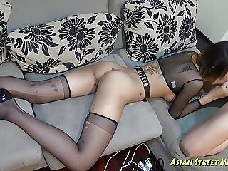 Aziatisch, Pijp, Deepthroat, Penis, Tiener, Thai