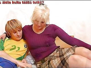 성숙한, 엄마, 러시아의, 젊은