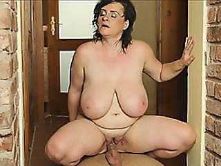 Busty Brunette Slut With Huge Natural Tits Fucked Hard By A Horny Plumber