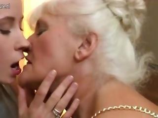 Teen Licks Grannies Pussy