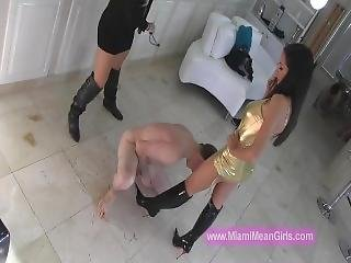 Ballbusting Boots Domination