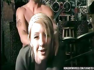 Blond Mom Takes A Facial From Her Trainer