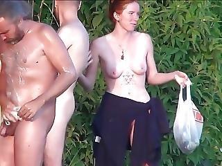 Strand, Nudisten, Buiten, Publiek, Gluurder