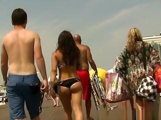 Candid Bikini Bubble Ass Walking