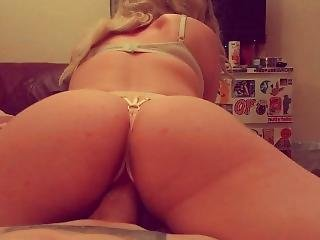 Pov Reverse Cowgirl In Crotchless Panties
