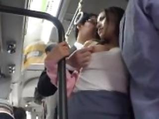 Asian Babe Gets Fucked On The Bus JAV