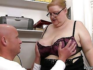Bbw, Big Boob, Boob, Doggystyle, Hugetit, Secretary, Stair