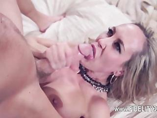 Busty Bitch Penetrated Over The Huge Couch